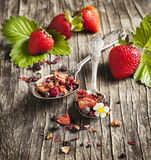 Strawberry Balsamico Herbal Tea Stock Photography