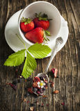 Strawberry Balsamico Herbal Tea Royalty Free Stock Photos