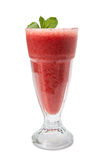 Strawberry banana cold smoothie Stock Photography