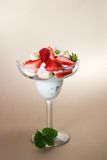 Strawberry and banana dessert Royalty Free Stock Image