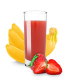 Strawberry banana juice Stock Photo