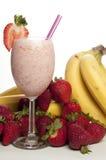 Strawberry Banana Smoothie Royalty Free Stock Photos