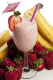 Strawberry Banana Smoothie Royalty Free Stock Photography