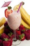Strawberry Banana Smoothie Royalty Free Stock Photography
