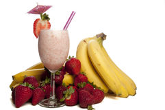 Strawberry Banana Smoothie Royalty Free Stock Photos