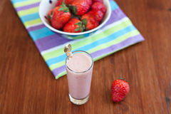 Strawberry  banana smoothie Stock Photography