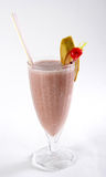 Strawberry Banana Smoothie or daiquiri. On a white background Royalty Free Stock Images