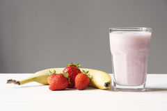 Strawberry banana smoothie Stock Photo