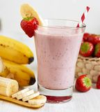Strawberry Banana Smoothie Stock Photos