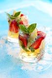 Strawberry Basil Sangria stock photo