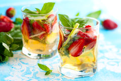 Strawberry Basil Sangria Royalty Free Stock Image
