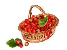 Strawberry Basket Royalty Free Stock Image