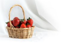 Strawberry In Basket Royalty Free Stock Images