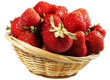 Strawberry in basket Royalty Free Stock Image