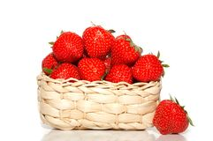 Strawberry in basket Royalty Free Stock Photos