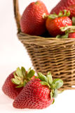 Strawberry in the basket Stock Photo