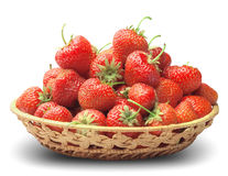 Strawberry in a basket-dish Royalty Free Stock Images