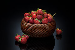 Strawberry in basket Royalty Free Stock Photography