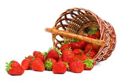 Strawberry, basket, fruit, vitamins, goodies Royalty Free Stock Images