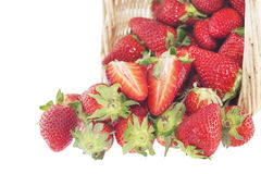 Strawberry basket Royalty Free Stock Photo