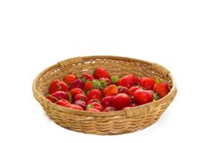 Strawberry basket. On white background Stock Photo