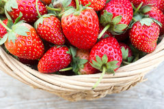 Strawberry in a basket. Royalty Free Stock Photos