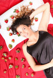 Strawberry Bed Royalty Free Stock Image