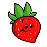Strawberry berry cartoon Royalty Free Stock Images