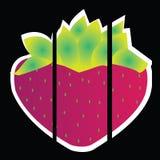 Strawberry. Big strawberry on black background Royalty Free Stock Photo