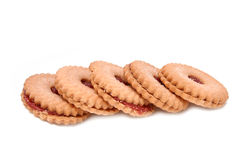 Strawberry biscuit Royalty Free Stock Image