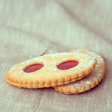 Strawberry biscuit Stock Photography