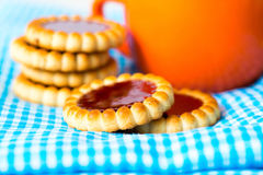 Strawberry biscuit Royalty Free Stock Photos