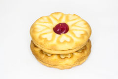 Strawberry Biscuit. A biscuit with strawberry jam inside stock photography