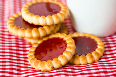 Strawberry biscuit Stock Images
