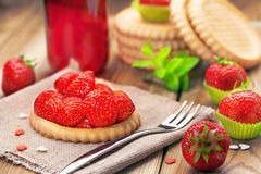 Strawberry biscuit Royalty Free Stock Photography