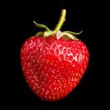 Strawberry on black background Royalty Free Stock Photo