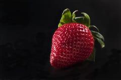 Strawberry on black background Royalty Free Stock Photography
