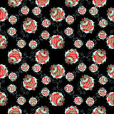 Strawberry black background pattern Stock Photos
