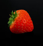 Strawberry on black background Stock Photography