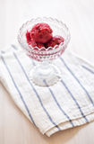 Strawberry & Blackberry sorbet Stock Photography