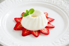 Strawberry blancmange Royalty Free Stock Images