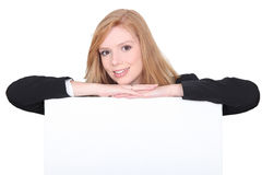 Strawberry blonde businesswoman Stock Photography