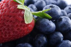 Strawberry and blueberries Royalty Free Stock Image