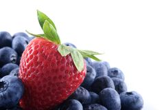 Strawberry and blueberries Stock Photography
