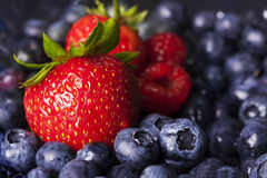 Strawberry and Blueberries Royalty Free Stock Photos