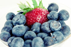 Strawberry and blueberry Stock Photography