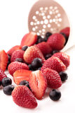 Strawberry and blueberry Royalty Free Stock Images