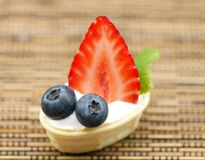 Strawberry and blueberry  on backgro Stock Photography