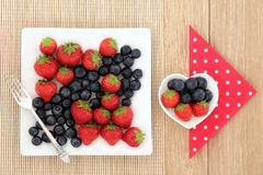 Strawberry and Blueberry Fruit Royalty Free Stock Images