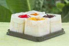 Strawberry, Blueberry, Orange and slice aweet egg mini cake Royalty Free Stock Image